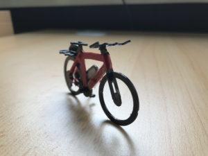 Modell eines Fahrrades