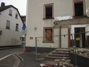 Abriss am Radweg-Ende Rutenbecker Weg