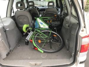 Fahrrad im Kofferraum