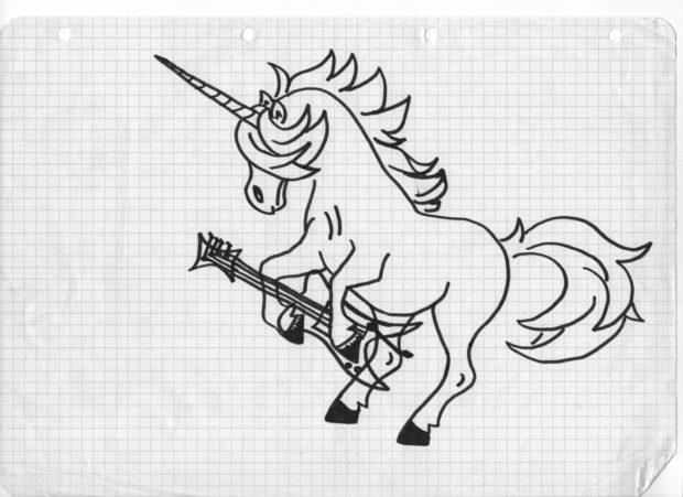 Zeichnung auf kariertem Papier