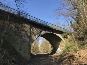 Schäden am Beton der Gänsebrücke