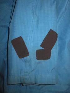 Goretex®-Jacke mit wasserdichten Textil-Aufklebern