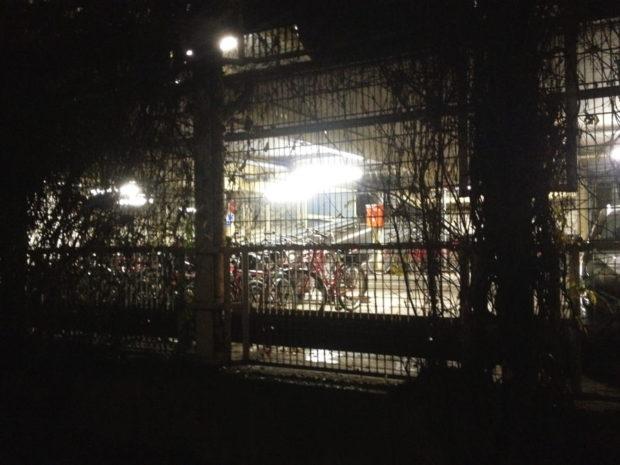 Fahrräder hinter Gittern