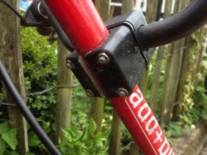 Zerbrochenes Fahrradteil