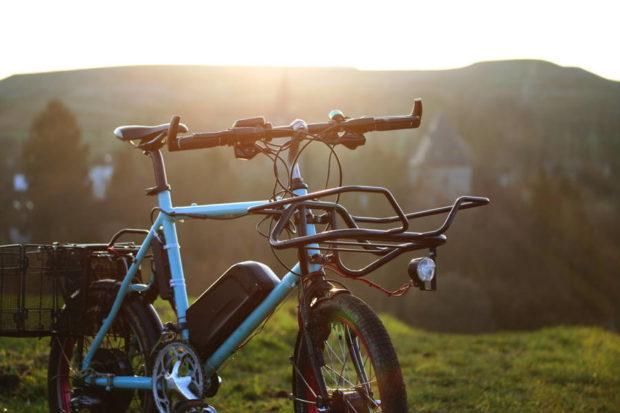 Fahrrad vor Abraumhalde