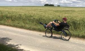 ich auf einem Ruderrad