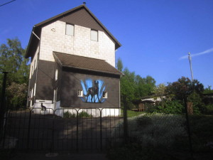 schaeferhund_auf_hauswand_eternitverkleidung_graffiti