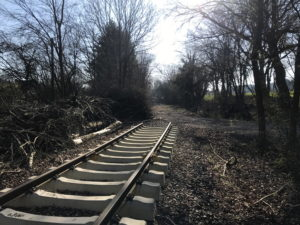 Schienenstrang-Ende