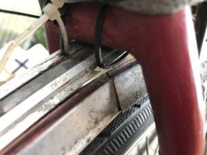 Fahrrad-Schutzblech in der Falz gerissen und Bördelung