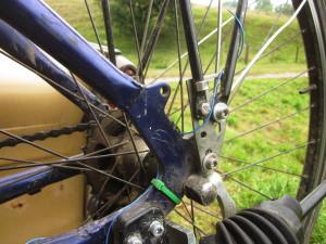 Rahmen mit Scheibenbremsen-Bremssattel-Aufnahme