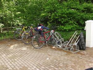 Unüberdachter Fahrradständer