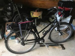 Fahrrad mit Pedelec-Umbau