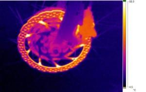 Wärmebild einer Fahrradscheibenbremse